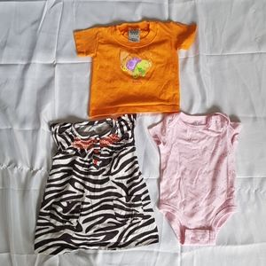 2/$20 3pcs girls 6M top & dress